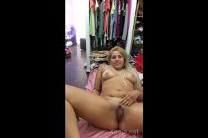 Blonde with big clitoris